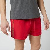 Calvin Klein Men's Short Swim Shorts - Lipstick Red - S - Red