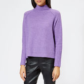 Whistles Women's Funnel Neck Wool Knitted Jumper - Lilac - Xs - Purple