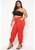Plus Size Chain-accent Joggers