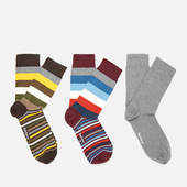 Barbour Men's Heywood Stripe Sock Gift Box - Multi - L - Multi