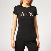 Armani Exchange Women's Ax T-shirt - Black - Xs - Black