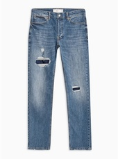 Indigo Patch Slim Jeans