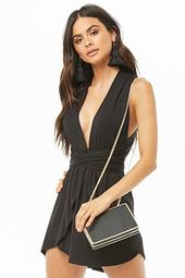 Plunging Halter Mini Dress