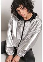 Metallic Windbreaker Jacket