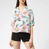 Levi's Women's Mahina Shirt - Lineartropical Whisper White - Xs - Multi