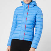 Superdry Women's Fuji Slim Double Zip Hoody - Blue - Uk 8 - Blue