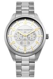Mix Silver Bracelet Watch - White