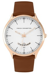Brown Leather Rose Gold Case Watch - Rose Gold