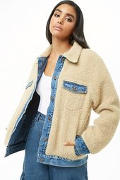 Denim & Faux Shearling Reversible Jacket