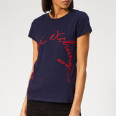 Armani Exchange Women's Brand Logo T-shirt - Navy - Xs