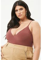 Plus Size V-neck Cami Bodysuit