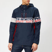 Superdry Men's Riley Overhead Logo Jacket - Navy - M - Blue