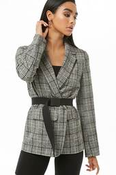 Glen Plaid Print Blazer
