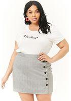 Plus Size Glen Plaid Mini Skirt