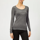 Guess Women's Long Sleeve Emily Jumper - Medium Charcoal - Xs - Grey