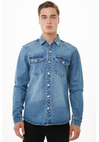 Snap-button Denim Jacket