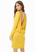 Twist-back Mini Dress