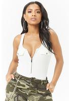 Kikiriki Ribbed Zip-up Bodysuit