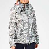 Superdry Women's Arctic Hoodie Camo Sd Windcheater - Grey/fluro Pink - Uk 8 - Grey