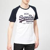 Superdry Men's Raglan T-shirt - Optic - S - White