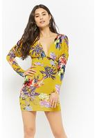 Floral Ruched Mini Dress