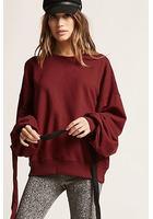 Oversized Self-tie Sweatshirt