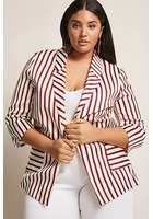 Plus Size Stripe Blazer