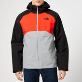 The North Face Men's Stratos Jacket - Mid Grey/fiery Red - S