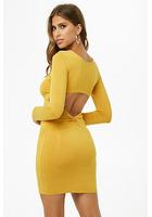 Cutout Twist-back Bodycon Dress