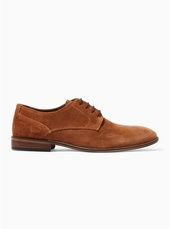 Tan Sharp Derby Shoes