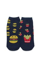 Burger & Fries Graphic Ankle Socks