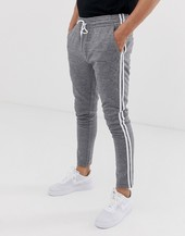 Pantalones Grises A Cuadros Con Raya Lateral De Jack & Jones Intelligence
