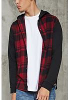 Hooded Check Flannel Shirt
