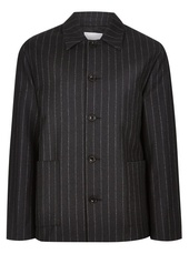 Charlie Casely-hayford X Topman Charcoal Pinstripe Chore Jacket