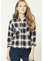 Boxy Flannel Plaid Shirt