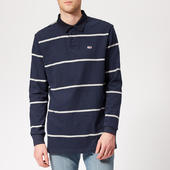 Tommy Jeans Men's Classic Rugby Top - Black Iris/light Grey - S - Navy/grey
