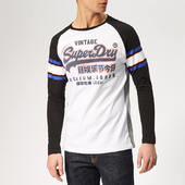 Superdry Men's Premium Goods Long Sleeve Top - Optic - S - White