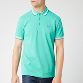 Boss Men's Paddy Polo Shirt - Light/pastel Green - S