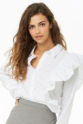 Ruffled Button Shirt