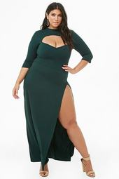 Plus Size Cutout Maxi Dress