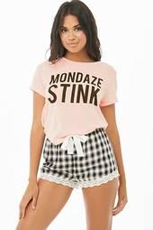Mondaze Stink Graphic Pj Set