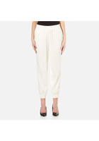 Dkny Women's Joggers With Ribbed Cuffs - Gesso - M - White
