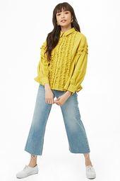 Ruffle Flounce-hem Shirt