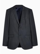 Navy Pinstripe Skinny Blazer