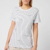 Tommy Hilfiger Women's Elora Crew Neck T-shirt - Stripe/classic White - S - White