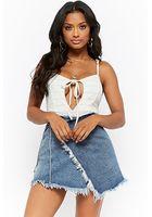 Momokrom Wrap Denim Mini Skirt
