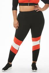 Plus Size Colorblock Leggings