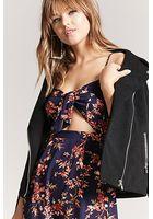 Floral Self-tie Cutout Cami Mini Dress