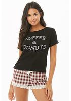 Coffee & Donuts Graphic Pj Set