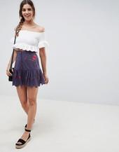 Minifalda Con Botones Delanteros